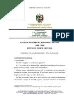 Revista de Derecho, Historia y Letras (Índice)