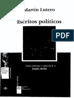 Abellán Joaquín_Martín Lutero. Escritos Políticos_Completo