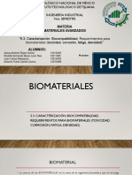 Caracterización de Biocompatibilidad