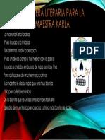 Calavera Literaria Para La Maestra Karla