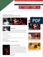 Primer encuentro de danza 2018 - red salas de teatro