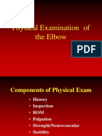PE and Diagnosis of Elbow