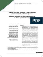 Programa nutricional conductual sobre actividad fisica