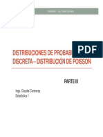 Distribución Poisson en Estadística