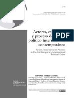 Actores, Estructura Y Proceso Del Orden Político Internacional