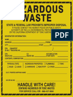 Hazardous Waste Label 6 x 6inch - Yellow-black_NEW