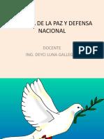 Cultura de La Paz y Defensa Nacional Primera Clase