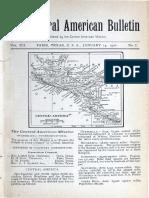 Central American Bulletin - Vol. 12 - No. 1 - January 1906