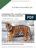 Heredabilidad FAQ_ La Genética Conductual en Humanos. Psicología y Psiquiatría _ Fox News
