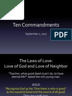 10 Commandments Lesson