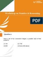01. Workshop on Number & Reasoning