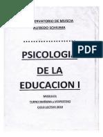 Cuadernillo Psicología de La Edu. 1