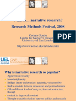 What is Narrative Research, Squire, NCRM 2008