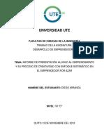 Tarea N°3_Informe alusivo a la presentación en torno al emprendedor por azar _Diego Miranda