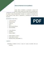 Informe de Proyecto de Química