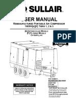 Sullair 1600RH User Manual