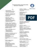 CONTEUDO DAS AVALIACOES - 2 serie ensino medio REPOSICAO 2 BIMESTRE