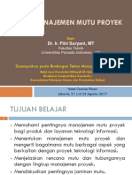 Modul 4_Sistim Manajemen Mutu Proyek_2017_UPI YAI