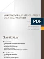 Non-fermenting and Miscellaneous Gram Negative Bacilli