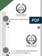 La administración pública y la función pública