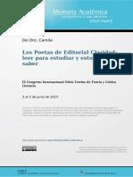 Los Poetas de Editorial Claridad