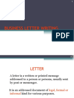9. Letter Writing
