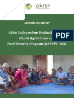 CSOs' Independet Evaluation of the Global Agriculture and Food Security Program (GAFSP) - Asia