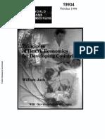 Principles of Health Economics