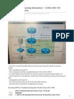 Ccnav6.Com-RIPv2 Troubleshooting Simulation CCNA 200-125 Exam Packet Tracer