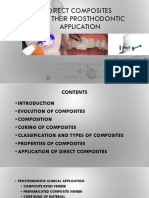 Direct Composites and Their Prosthodontic Application