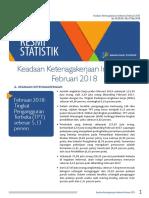BPS Berita Resmi Statsitik Keadaan Ketenagakerjaan Indonesia Februari 2018