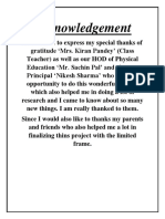 Acknowledgement Health and Physical Education