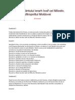 Acatistul Sfântului Ierarh Iosif Cel Milostiv, Mitropolitul Moldovei