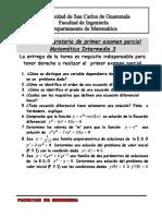 Tareas Matemática Intermedia 3