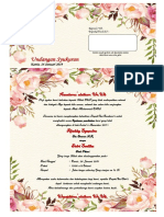 undangan syukuran Pernikahan