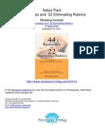 44 Remedies and 22 Eliminating Rubrics Satya Paul.01414 2