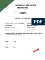 6973 Concours General Des Metiers Fonderie 2015 Partie 2 Correction (1)
