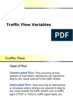 Traffic Flow Variables