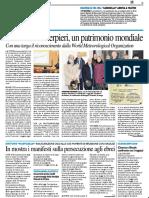Osservatorio Serpieri, un patrimonio mondiale - Il Resto del Carlino del 27 gennaio 2019