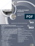 Testing & Analysis of Concrete