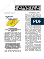 October 2010 Epistle