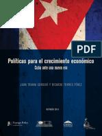 Politicas para el Crecimiento Económico