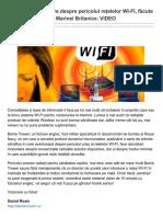 Dezvaluiri Incendiare Despre Pericolul Retelelor WI-FI