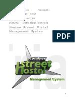 Jasper Mureba Kwekwe street hostel management system gutu high school