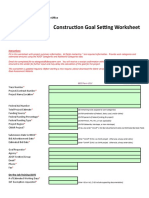 ADOT GoalSettingWorksheet Construction