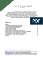 Environmental Policy Brief Tanzania
