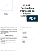 Phil-iri Panimula Booklet Grade 3