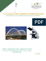 Catalogue Normes Ivoiriennes 2015
