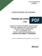 Prueba de Conocimientos Guardia Civil 2018 2B AVEFOR 1