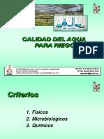 Criterios de Calidad de Las Aguas Para Riego ECUADOR